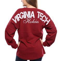Virginia Tech Hokies Women's Maroon Pom Pom Long Sleeve Jersey Top