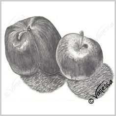Apples still life study pencil drawing art original artwork realism painting drawing kitchen wall art food healthy eating diet fresh vegetables fruit home decor