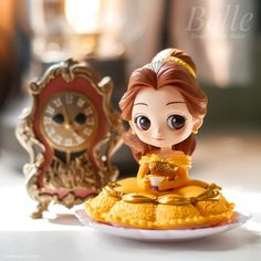 Belle - QPosket Sugirly - Beauty and the Beast Cogsworth - Funko Pop Pimvard Falcon ( Disney Princess Doll Collection, Disney Princess Fashion, Disney Princess Art, Disney Fan Art, Princess Cakes, Pretty Dolls, Cute Dolls, Beauty And The Beast Theme, Disney Figurines