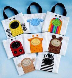 Patrón de costura Mini bolsas con apliques de por preciouspatterns                                                                                                                                                     Más
