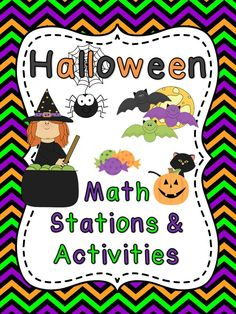 Halloween Math Stations and Activities!