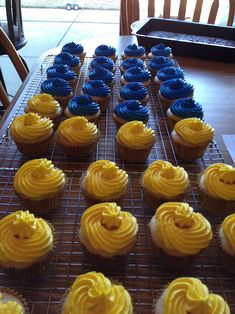 Cupcakes for a Cub Scout Blue and Gold banquet