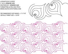 Flicker Pantograph By Lorien Quilting