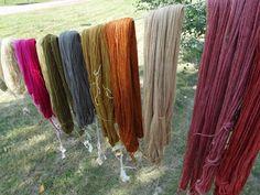 Kasvivärjätyt langat/ woolyarn/ natural dye