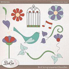 Bird Song Layered Doodles