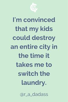 Or in the time it takes to go pee! #ParentingHumor