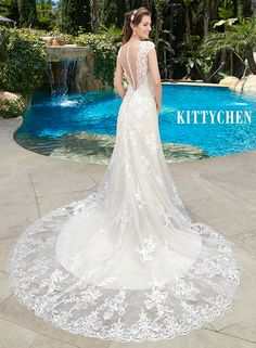 Cute Low Back Wedding Dresses Bridal Gowns Cap sleeves KittyChen THORA The