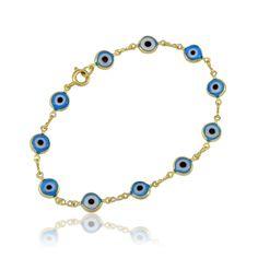 Pulseira Olho Grego Azul | Moniky Semi Jóias