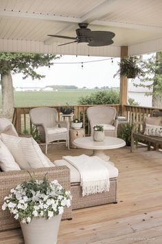 Outdoor Furniture Sets, House, Beautiful Outdoor Living Spaces, Deck Addition, Deck Furniture, House Exterior, Living Spaces, Porch Decorating, Outdoor Design