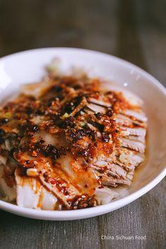 Sichuan style pork slices