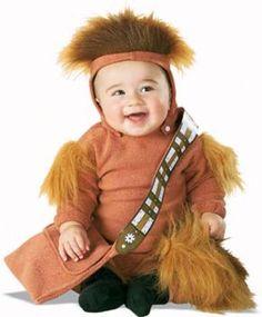 Baby Chewbacca costume  http://barnaclebill.hubpages.com/hub/babyhalloweencostumes