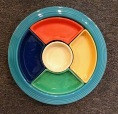 Vintage FIESTA RELISH DISH/TRAY w/ INSERTS ORIGINAL 6 COLORS FREE SHIPPING