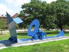 Well-engineered sculpture on the Busch Campus