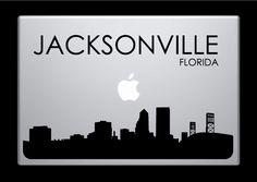 Jacksonville Skyline Macbook Decal With Writing / Macbook Sticker / Laptop Sticker - 4. $9.99, via Etsy.