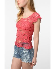 Crochetemoda: Rose Crochet Blouse