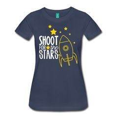 Shoot for the Stars teacher shirt T-Shirt School Shirts, Teacher Shirts, Space Theme Classroom, Classroom Ideas, Spirit Wear, Shooting Stars, Cool Designs, Graphic Tees, Shirt Designs