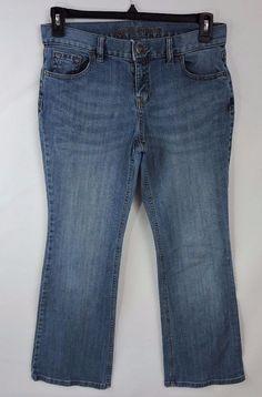 Land's End Blue Women Boot Cut Jeans Size 8  #LandsEnd #BootCut