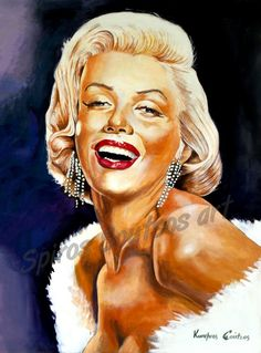 Marilyn Monroe portrait painting | Canvas print, movie poster, wall decoration art