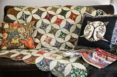 William Morris in Quilting: Afternoon Tea with May Morris projects.