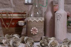 Come decorare bottiglie di vetro  How to decorate glass bottles www.immholiday.com/blog