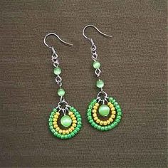 seed bead earrings tutorial