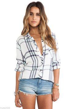 [NEW] Rails Hunter Shirts White Navy Mint Cream button down free people top #Rails #ButtonDownShirt #Casual