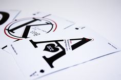 Graphos Playing Cards by Michelle Lam, via Behance