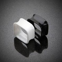 Square Tunnel Double Flared Ear Gauge Plug #eargauge #piercing #bodymods
