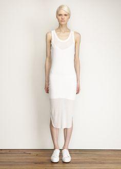 Ann Demeulemeester Tank Dress in White