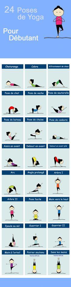 Quelque poses de yoga pour les débutants, entièrement en Français.