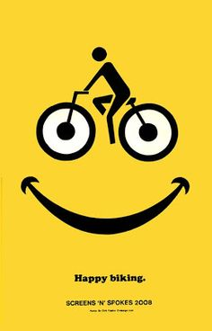 Screens N Spokes Bike Art, Good Bumper Stickers and Bad Olymipcs : UsedWigs - Trend Pin Bicycle Quotes, Cycling Quotes, Cycling Art, Cycling Bikes, Cycling Jerseys, Logo Velo, Bike Logo, Velo Biking, Logo Club