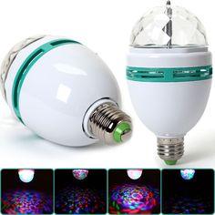 E27 3W LED RGB Kugel DJ Lampe Leuchte Licht Party Licht-Effekt Birne Beleuchtung