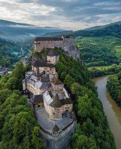Slovakia, Oravský Podzámok Bratislava, Beautiful Castles, Hungary, Forts, Explore, Mansions, Towers, House Styles, Water