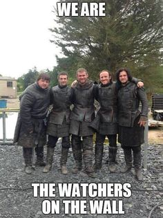 Samwise, Pippin, Merry, Dolorous Edd, and Frodo -- #obviously. #gameofthrones #youknownothingjonsnow