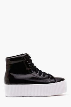 JC Play by Jeffrey Campbell Hiya Platform Sneaker – Black Ugly Shoes, Sock Shoes, Cute Shoes, Me Too Shoes, Nike Tights, Nike Boots, Sneaker Boots, Platform Sneakers, Shoes Online