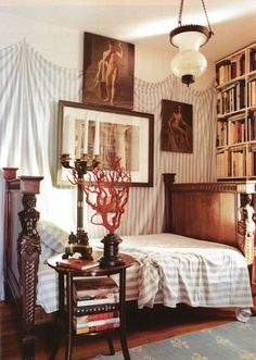 Very warm bedroom with lots of character