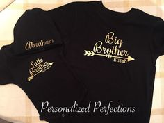 Little Brother Big Brother with Arrows and by PersonalizedPerfect4