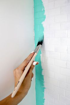 How to paint over tile (click through for tutorial)