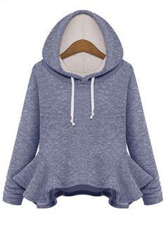 cute ruffled hoodie