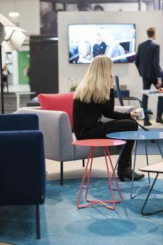 Nooa armchairs and Scoop sofa table. Stockholm Furniture & Light Fair 2016. #stockholmfurniturefair #sff2016 #sthlmfurnfair