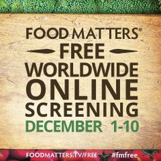 Share the Food Matters Free Worldwide Online Screening with every one you care about You ARE what you eat! Food Matters available to watch just for a few days. Please watch. Health And Nutrition, Health And Wellness, Health Fitness, Best Way To Detox, Pantry Essentials, Eat To Live, Star Wars, It Goes On, Friends In Love
