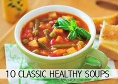 10 delicious soup recipes that are sure to fill your healthy hunger needs! #healthsoup