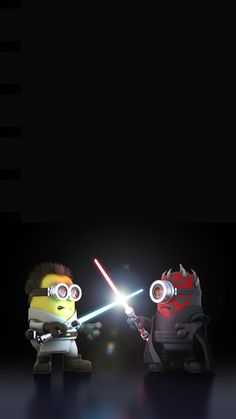 2014 Awesome Despicable Me Inspired Minions Star Wars iphone 6 plus wallpaper for Halloween #iphone #wallpaper