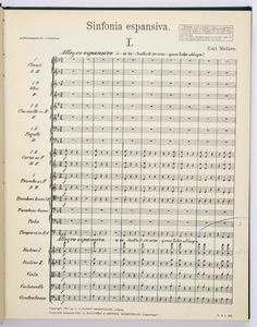 Nielsen, Carl: SYMPHONY NO. 3, OP. 27 Sinfonia Espansiva ... Bernstein's Score at the NY Philharmonic Archive