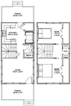 PDF House Plans, Garage Plans, U0026 Shed Plans. Eliminate Closet In Kitchen  Area And Make It An Eating Area. Screen In Back Porch.