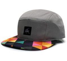 80928520cd9 Amazon.com  City Hunter Cn360 Triangle Pattern 5 Panel Biker Hat (Light  Grey)  Clothing
