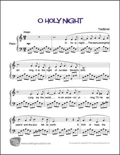 O Holy Night | Sheet Music for Piano (Digital Print)