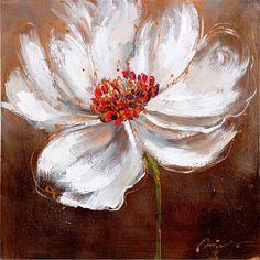 Toile peinte floral 60x60