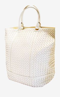 Bottega Veneta Cream Intrecciato Nappa '73 Bag