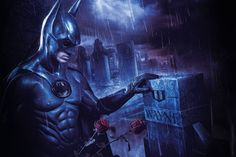This picuture is inspired by the Batman comicbooks. There is a scene, batman goes to his parents grave and bring theme some red roses. Superman, Batman, Evanescence, Comic Books, Scene, The Incredibles, Superhero, Blog, Fictional Characters